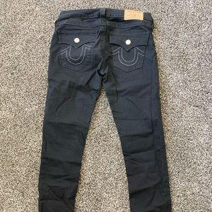 True Religion (Women's) Black Skinny Jeans